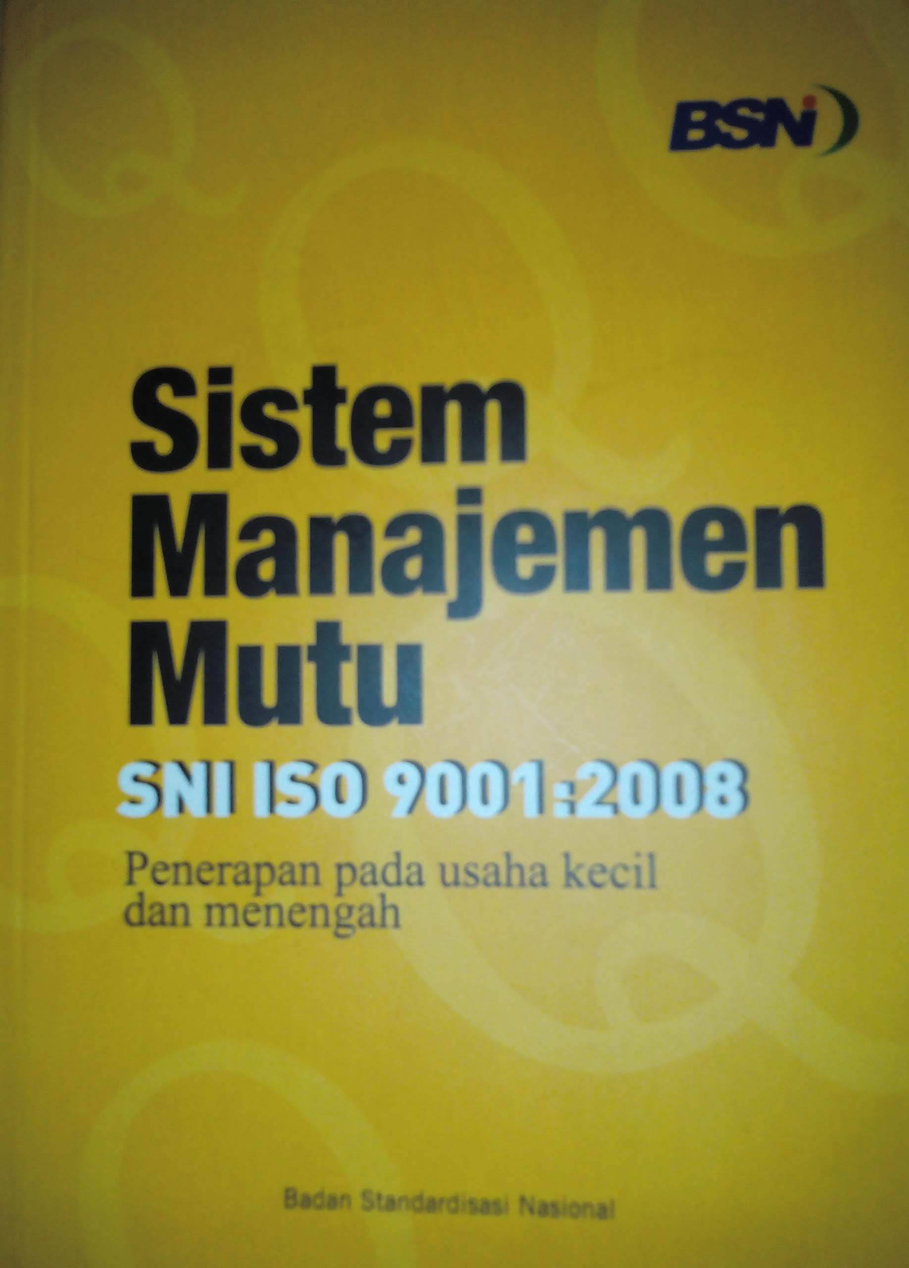 SNI ISO 9001:2008